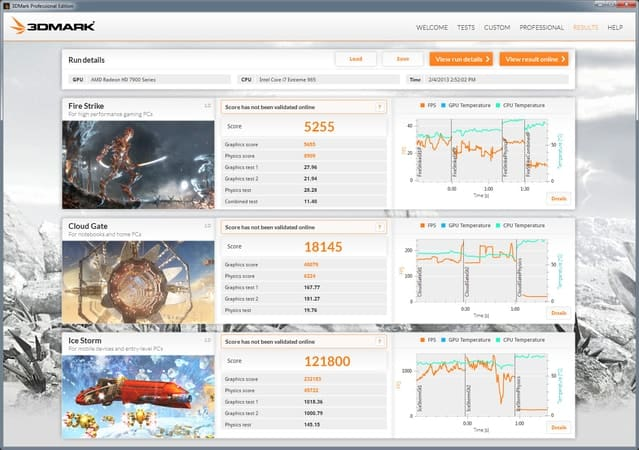 3DMark benchmark for Windows Screenshot