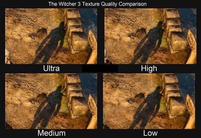 Texture Quality Settings Comparison In Witcher 3