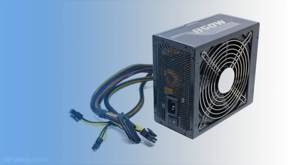 850W power supply unit with cable