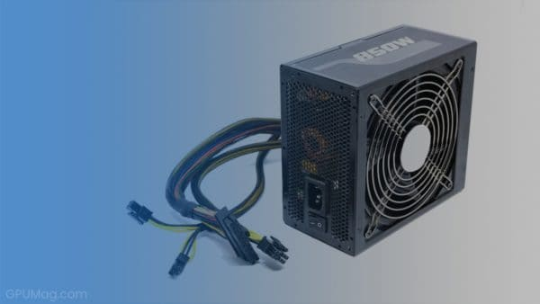 850W power supply unit with cables