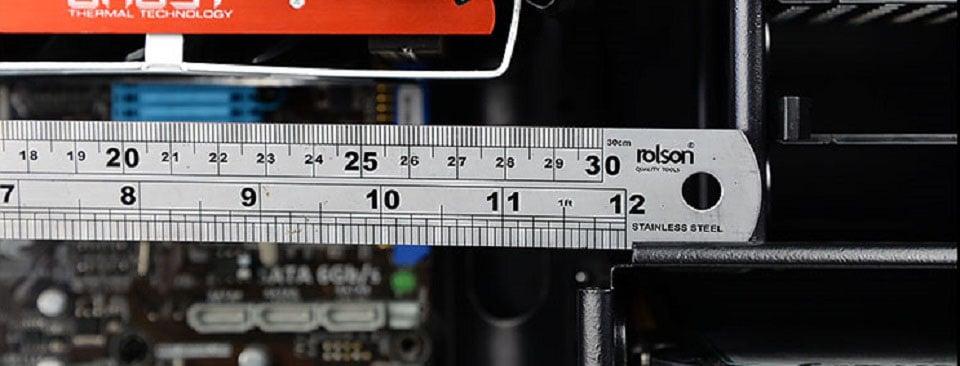 Measuring GPU clearance inside PC case