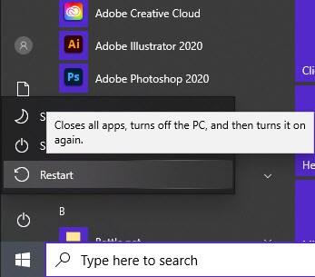 Restarting A Windows 10 PC
