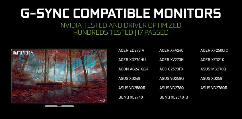 geforce g sync compatible monitors
