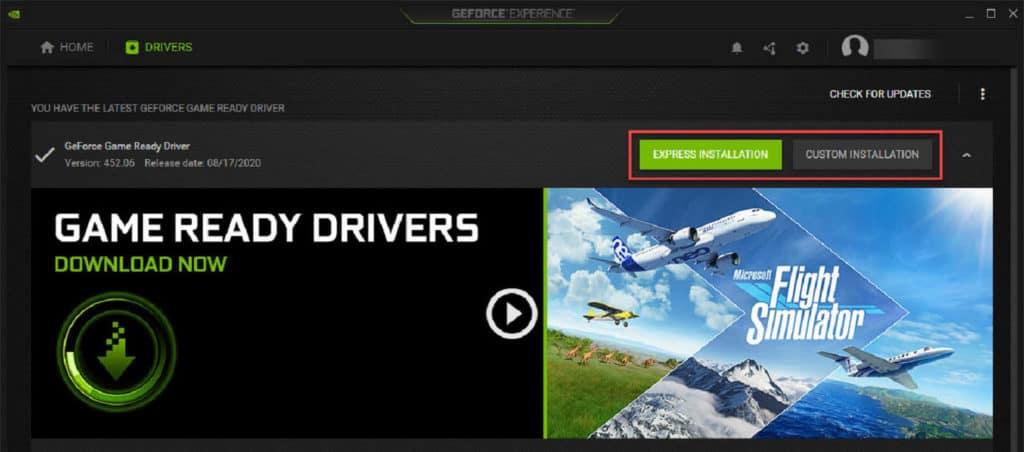 NVIDIA GeForce Experience Express vs Custom Installation