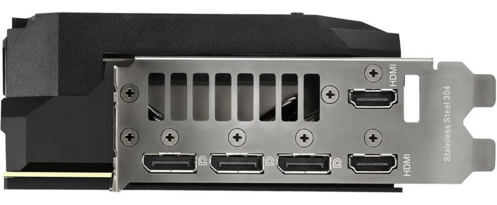 ASUS RTX 3080 ROG Strix OC Connectors