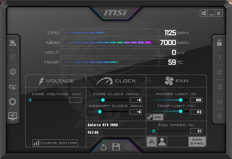 MSI Afterburner Mystic Afterburner Skin