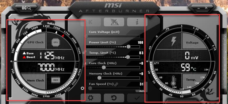 MSI Afterburner Screenshot Monitoring Tools
